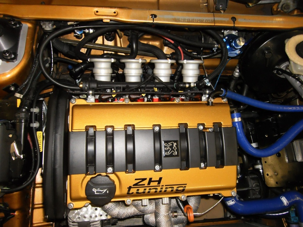 TU5J4-Rennmotor mit Einzeldrosselklappenanlage