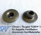 SRT - Aluminiumventilfederteller für Citroen/Peugeot 1,6 und 2,0/2,2 16v bzw. 3,0 24v mit doppelten Sportventilfedern