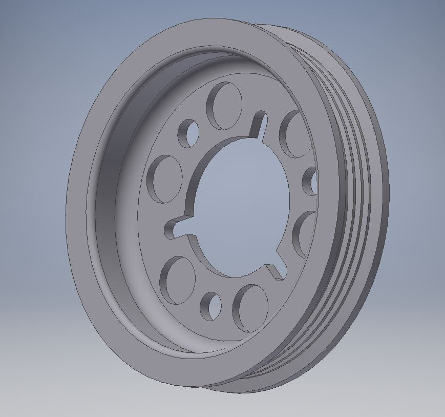 Engineering - CAD-Konstruktion Riemenscheibe
